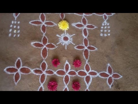 9 Dots   Ratha SaptamiRangoli 5   ரத சப்தமி 2019   Kolam