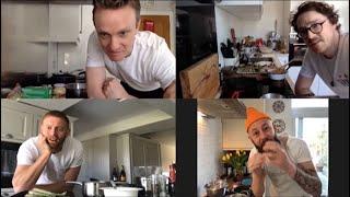 Gordon Ramsay Restaurant Chefs Jocky, Ben and Davide teach Jonny Bairstow to cook asparagus