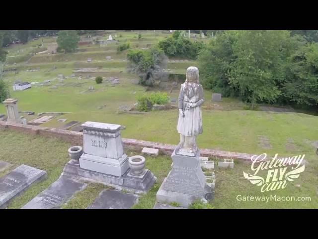 Aerial Macon - Rose Hill Cemetery