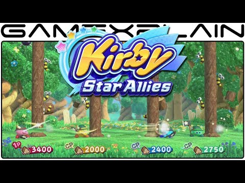 Kirby: Star Allies - New Characters & Minigames Revealed on Official Website + New Gameplay!