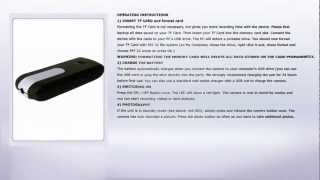 spy camera hidden in usb stick instructions