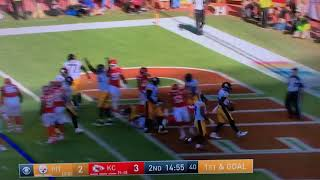 Le'Veon Bell boxing bag TD celebration: Steelers vs Chiefs Week 6