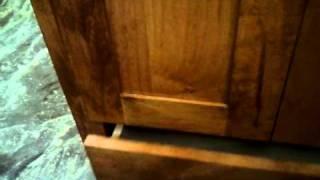 Center City Cabinets Rustic Alder Vanity Drawer Mission Shaker Golden Oak