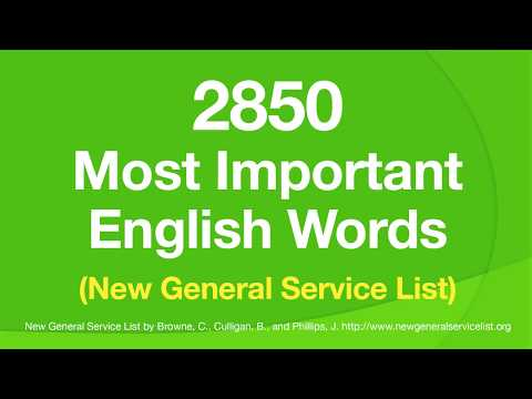 2850 Most Important English Words