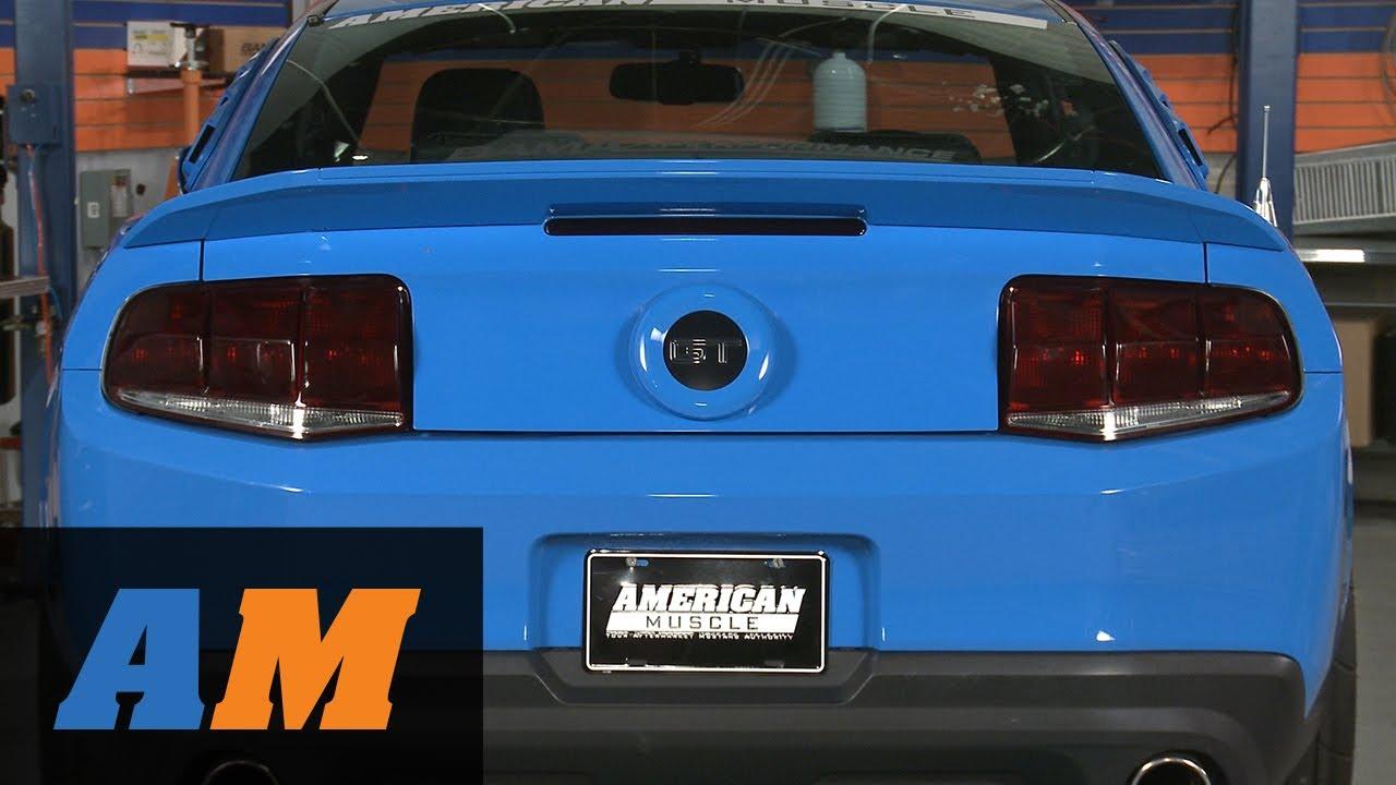 Mustang Mmd Trunk Emblem Surround Pre Painted Matte Black 10 12