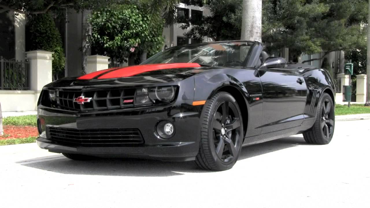 2011 chevrolet camaro 2ss rs black convertible youtube. Black Bedroom Furniture Sets. Home Design Ideas