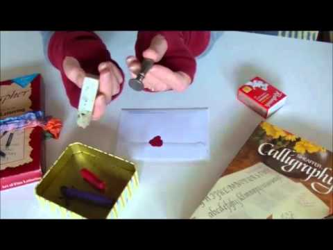 How to  wax seal  an envelope  using a crayon