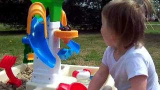 Quinn's New Sand & Water Play Table