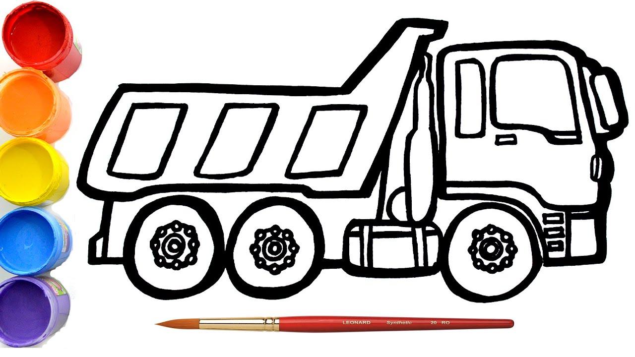 Cara Menggambar Dan Mewarnai Mobil Box Mainan Dump Truck Belajar Menggambar Untuk Anak Youtube