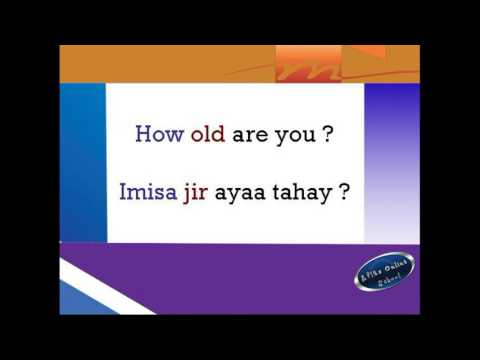 Basic English for Somali Speakers(asking questions)