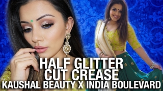 Half Glitter CUT CREASE Makeup Tutorial