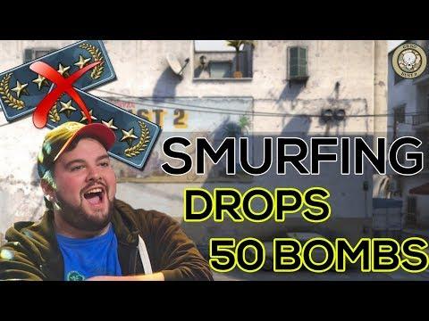 HIKO SMURFING IN GOLD NOVA. DROPS 50 BOMBS!