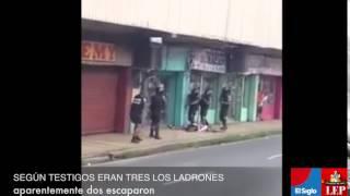balacera durante robo en avenida b ciudad de panam