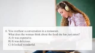 FCE First Certificate in English Listening Test | Part 1
