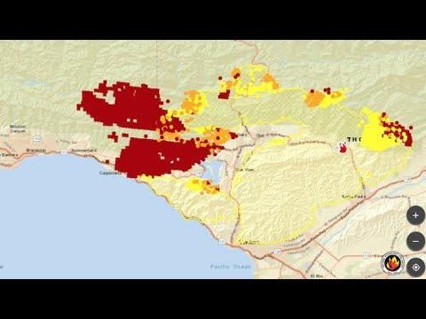 LIVE Santa Barbara Fires Live LA