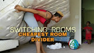 SWITCHING KIDS ROOMS / DIY ROOM DIVIDER/ EASY