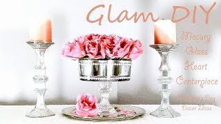 Dollar Tree DIY Glam Mercury Glass Heart Centerpiece