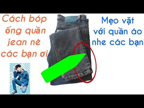 Mẹo vặt với quần áo-Cách bóp ống quần jean/Nhân Tailors Official