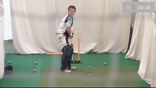 In the nets: England batsman Eoin Morgan faces Merlyn bowling machine