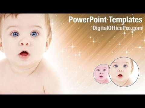 Cute Baby Powerpoint Template Backgrounds Digitalofficepro 03426w