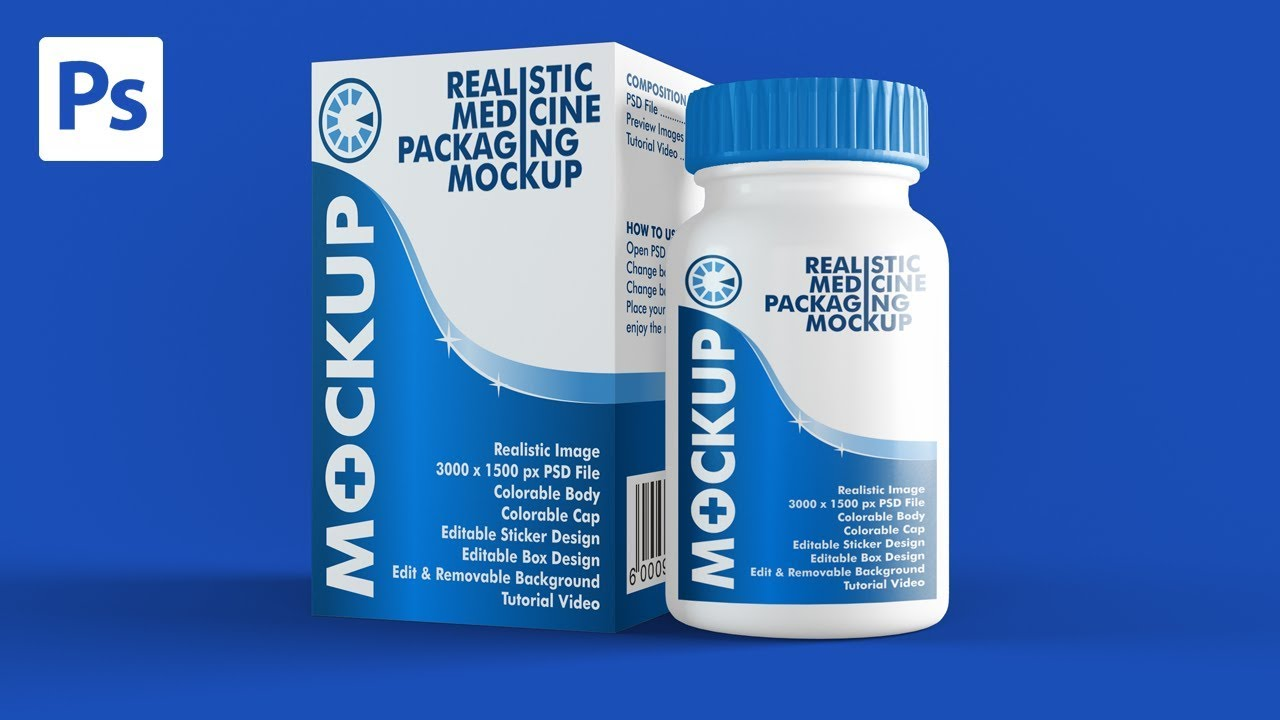 Realistic Medicine Packaging Mockup Youtube