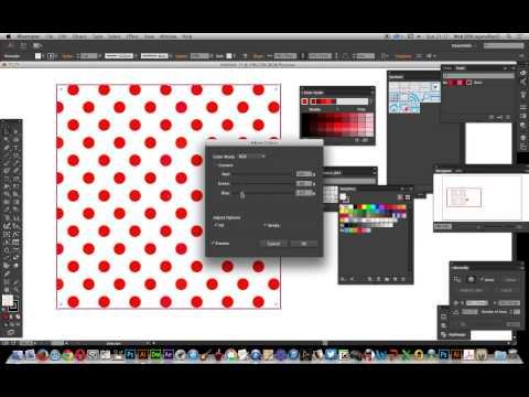 Illustrator CC  -- Re-color polka dot swatches tutorial thumbnail
