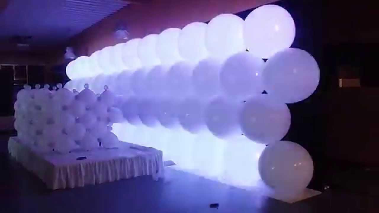 Set Up Led Balloon Wall Youtube
