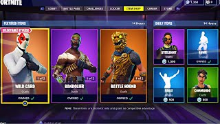 WILD CARD | SAFECRACKER | BATTLE HOUND | BANDOLIER; Item Shop Update in FORTNITE #06/09/18