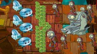 Winter Melon and Melon Pult vs Gargantuar Pirate - Pvz 2