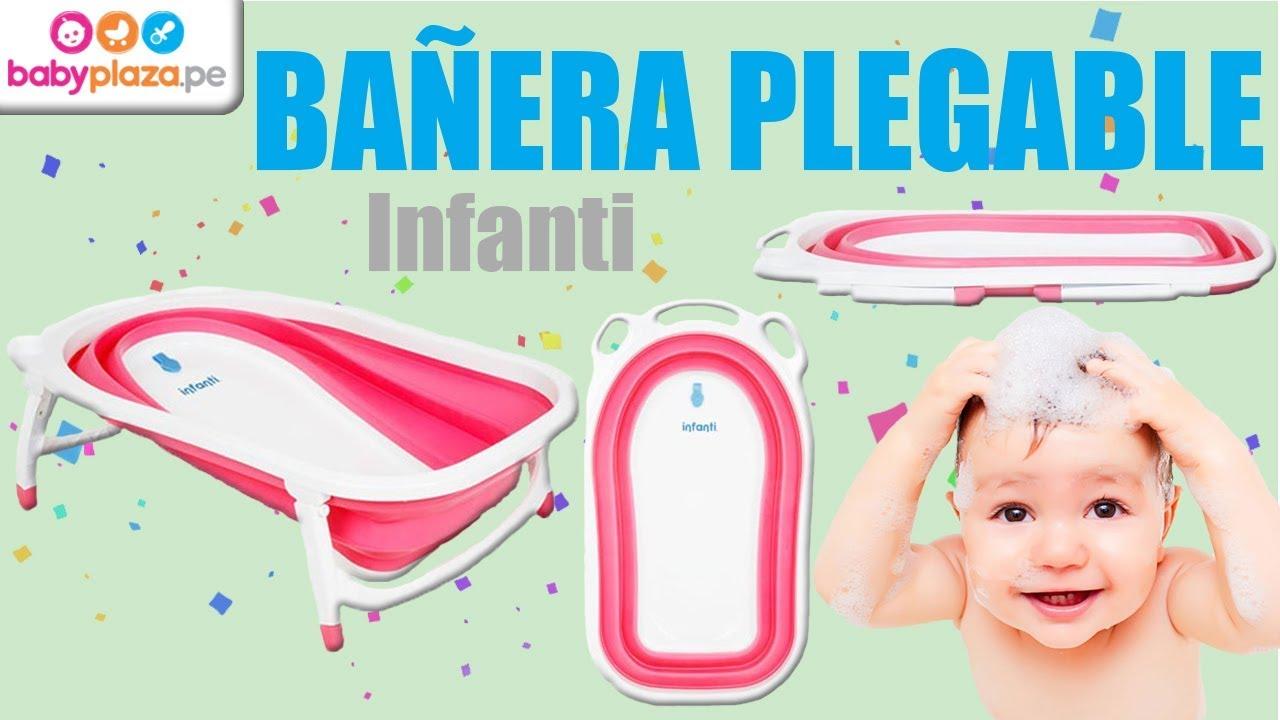 fa406146a Bañera Plegable para bebés- Infanti | BabyPlaza - YouTube