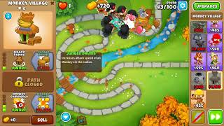 Bloons TD 6 - Hard, Chimps , Park Path, (NO MONKEY KNOWLEDGE)