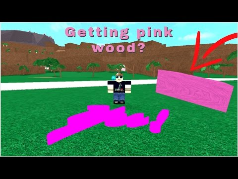 Lumber tycoon 2 RAREST WOOD IN THE WORLD??? | Pink wood | Getting pink wood by blowing up sign????