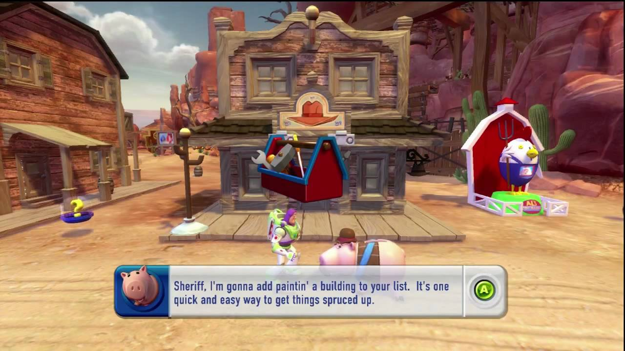 All Toy Story 3 Games : Toy story video game woody s roundup part youtube
