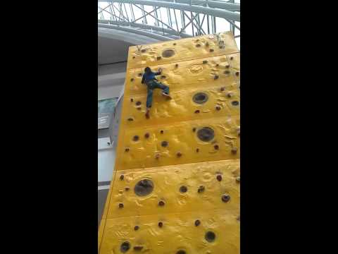 Rock Climbing at Prasads IMAX Successfully by 10 years boy -Jathin