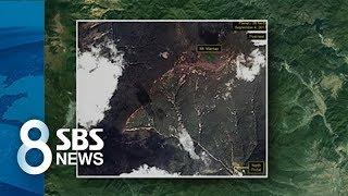 북한 핵실험 뒤 위성에 잡힌 풍계리 산사태 / SBS