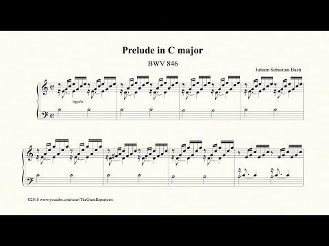 Bach, Prelude in C major, BWV 846