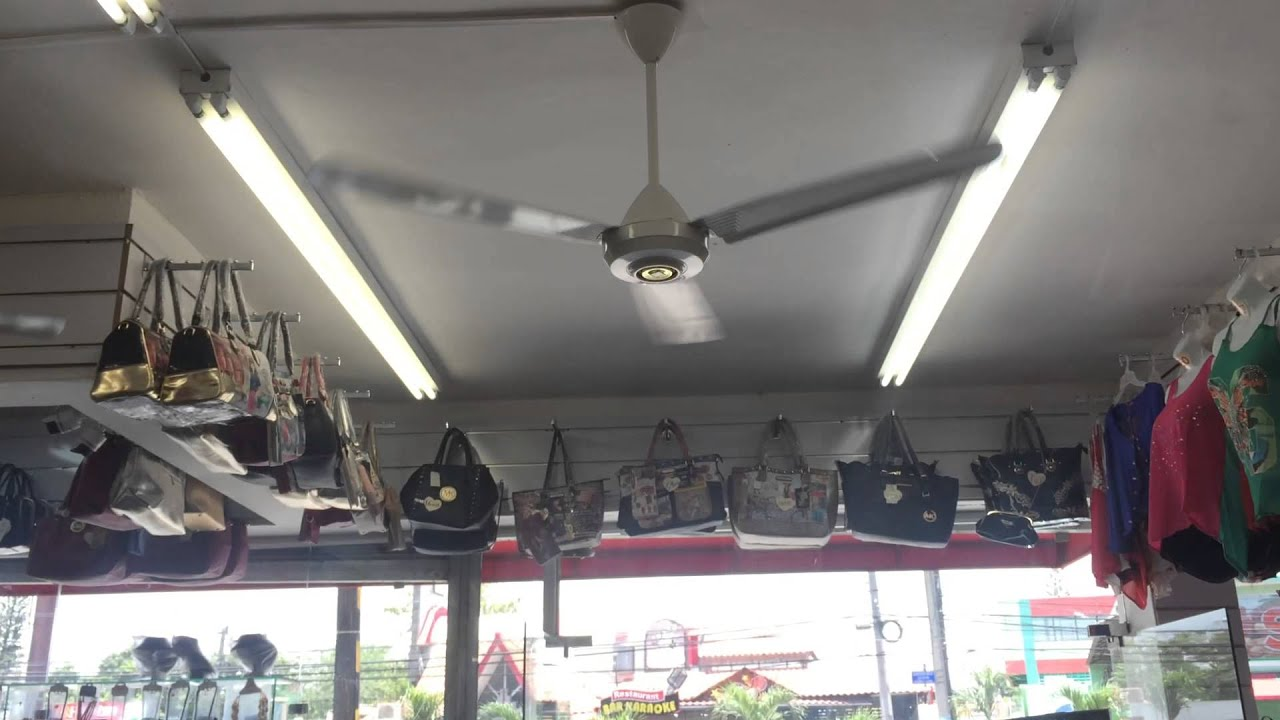 18 KDK industrial ceiling fans at a clothing store
