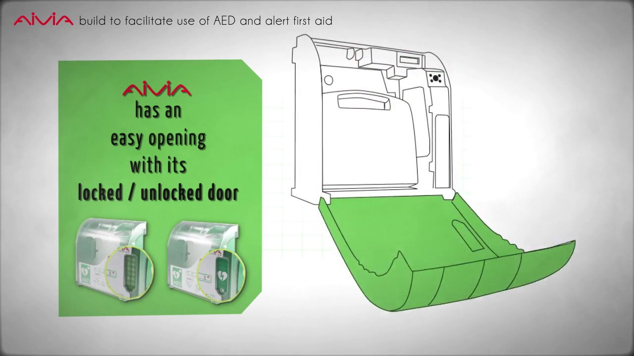 Aivia Indoor And Outdoor Defibrillator Cabinets