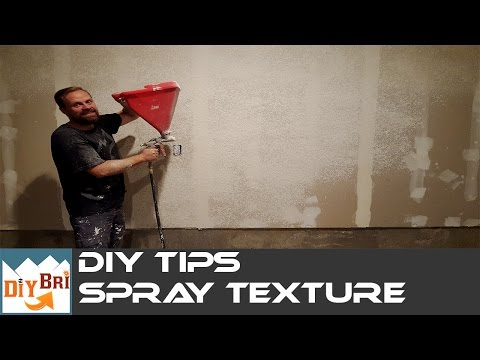 How to spray Texture on Walls & Ceilings | DIY Hopper Gun Tips