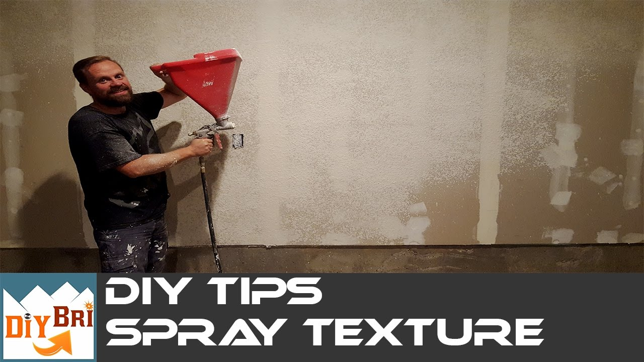 How to spray Texture on Walls Ceilings DIY Hopper Gun Tips YouTube