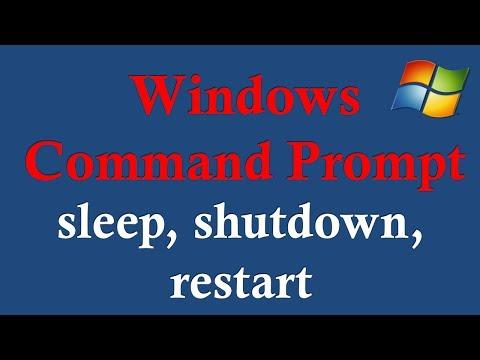 Windows Command Prompt - 6 sleep, shutdown, restart - YouTube