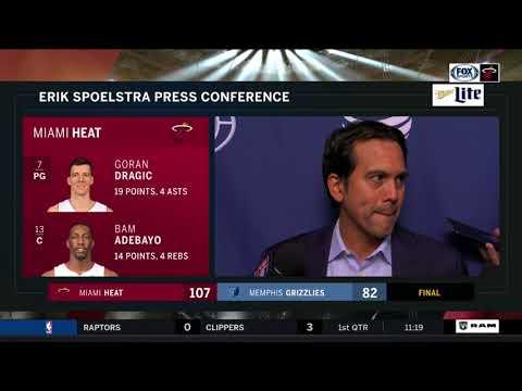 Erik Spoelstra -- Miami Heat at Memphis Grizzlies 12/11/2017