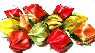How to Make Flower Petals, DIY Kanzashi Tatiana Vasyliuk, Лепестки Канзаши из Ленты 5 см
