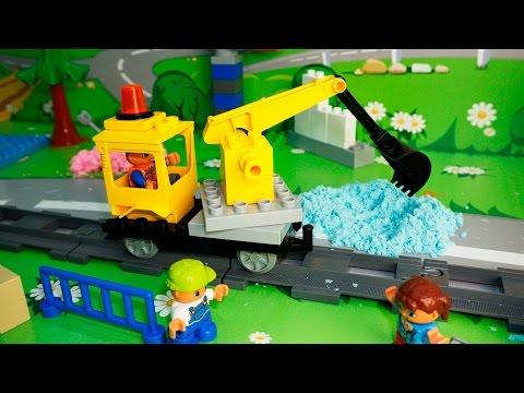 Лего экскаватор мультфильм