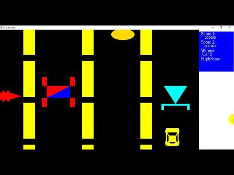 2D Raceing Car Game 3| Computer Graphics Tutorial | Simple Demo Project  using OpenGL C++ Source Code