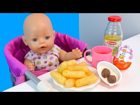 Кукурузные Палочки и Компот Как Мама Кормила Беби Бон Куклы Пупсики Мультик для детей