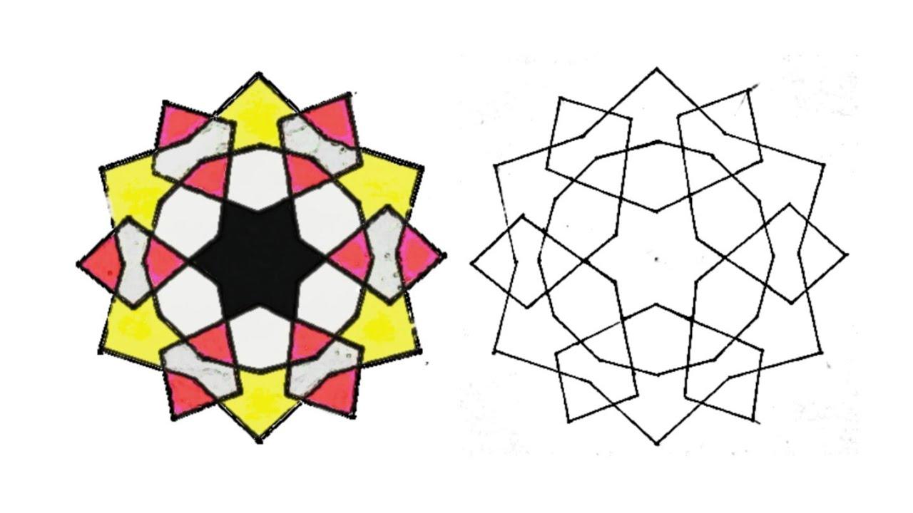 رسم زخرفة هندسية للمبتدئين