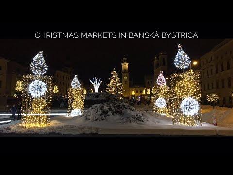 Vianočné trhy v Banskej Bystrici ... Christmas markets in Banska Bystrica , Slovakia