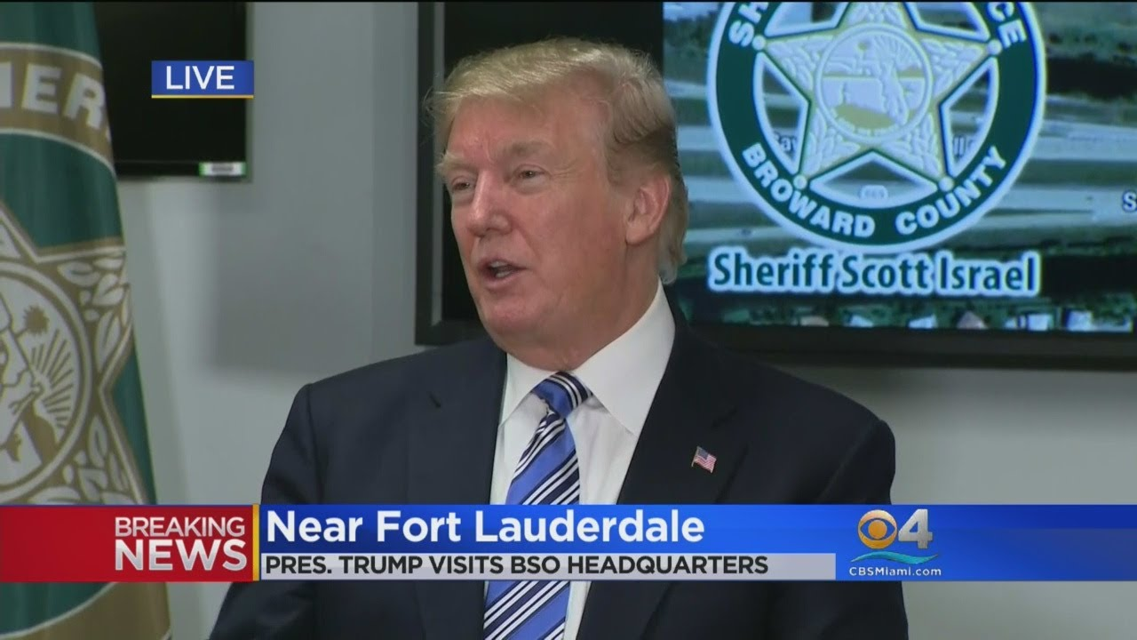 SPECIAL REPORT: President Donald Trump Speaks At BSO Headquarters