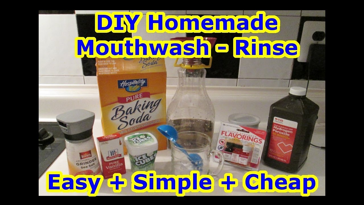Easy DIY Mouthwash Rinse - All Natural
